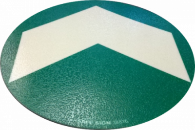 photoluminescent Floor Arrow Equipped with anti-slip layer and 3M tape