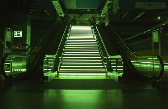 luminous aluminum stair profiles