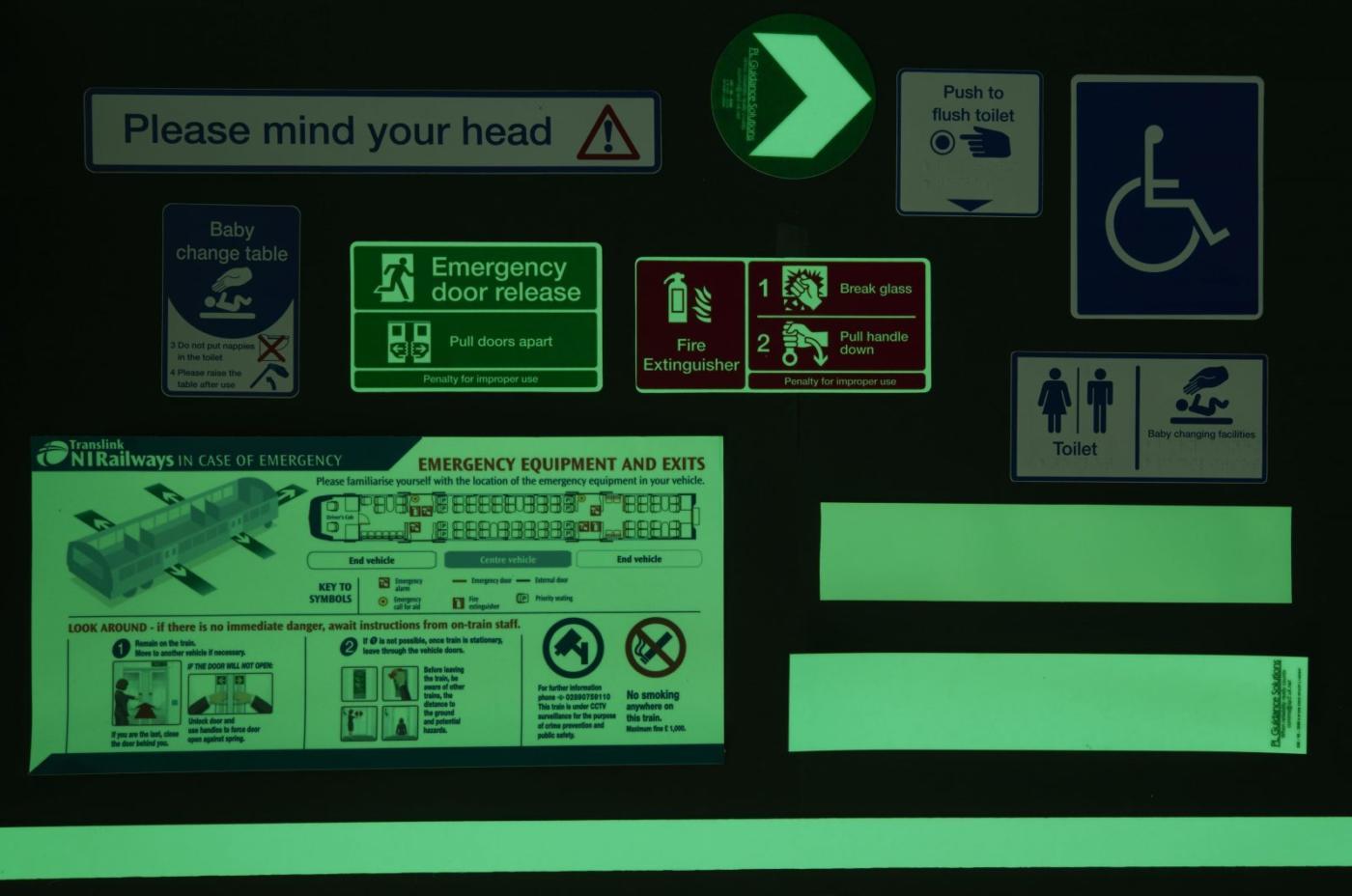 Photoluminescent Icons trains