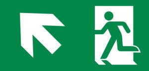 Pictogrammen voor noodverlichting