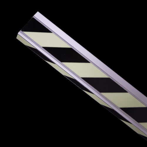 Striped photoluminescent stair profiles