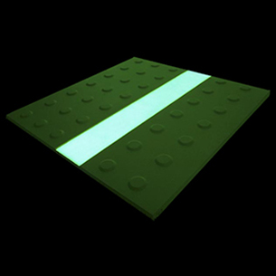 Luminous studded tiles