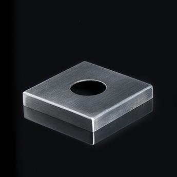 Roestvrijstalen deurkruk voorzien van lichtbron – vierkant rozet