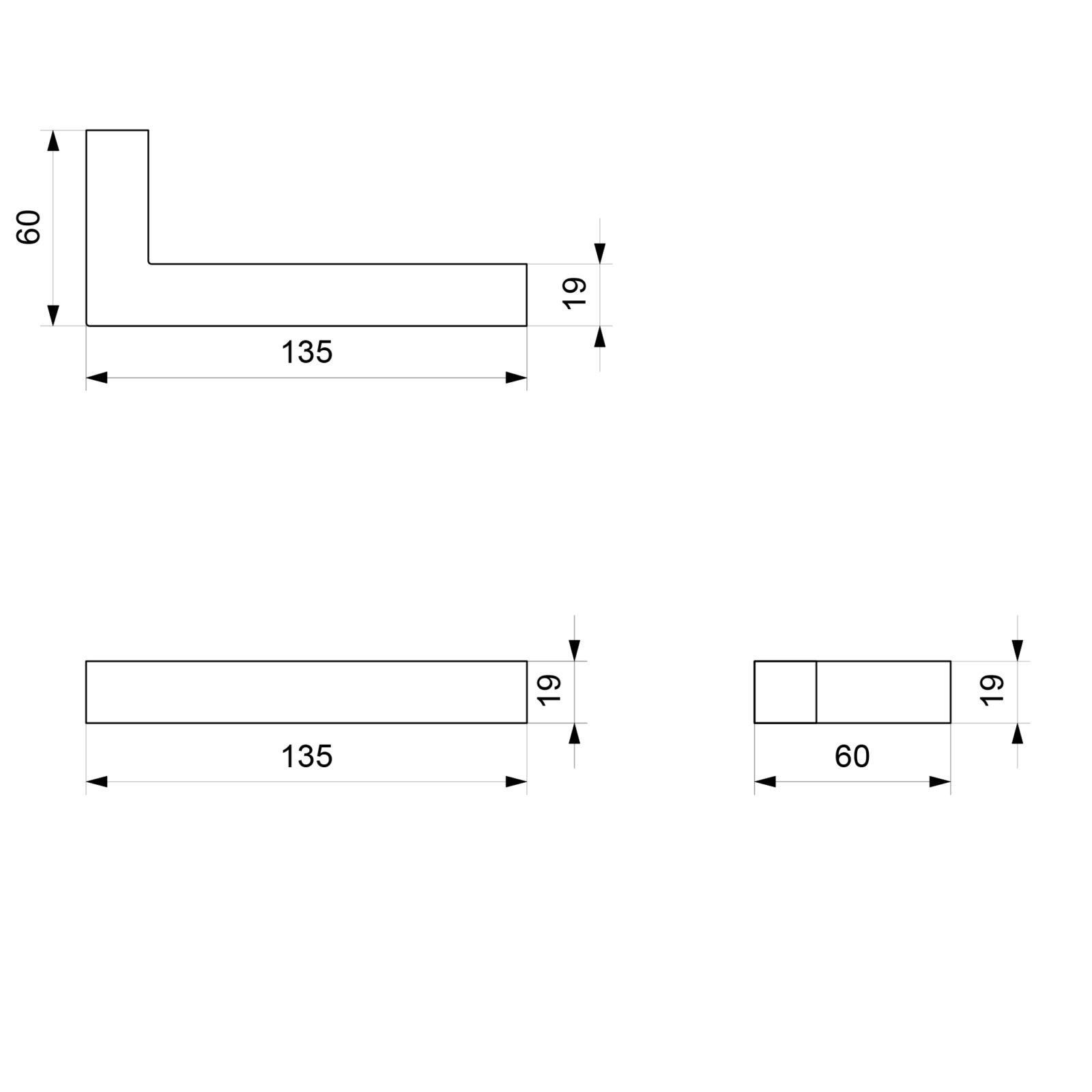 Roestvrijstalen deurkruk voorzien van lichtbron – vierkant