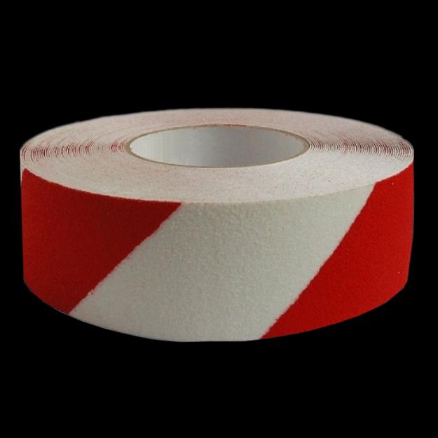Anti-slip tape red and white striped