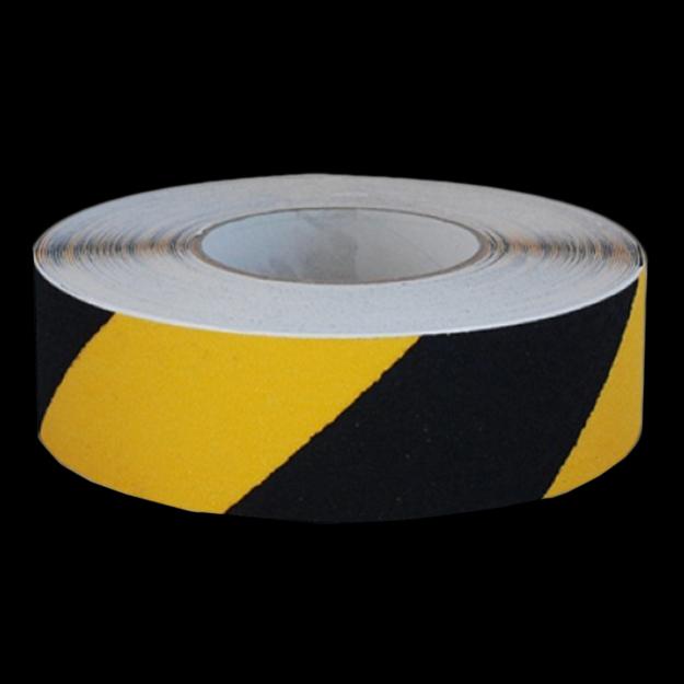 Anti-slip tape black and yellow striped