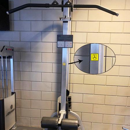 Handtuch obligatorisch / nach Gebrauch entfernen Aufkleber ideal für Fitnessstudios