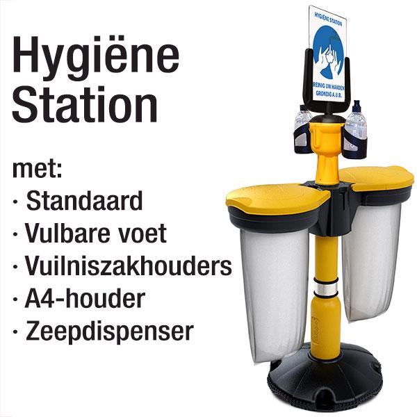 HYGIENE-STATION-met-Skipper-en-afvalzak - covid-19 - corona - Lighting solutions b.v (2)