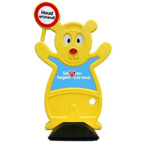 Verkehr Teddy der sichere Bär Halten Sie 1,5 Meter entfernt Verkehr Teddy A-Bor, Wohngebiete kennzeichnen nur spielende Kinder
