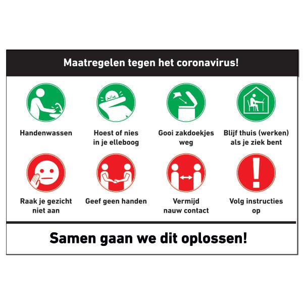 Corona COVID 19 Measures Warning Sign -corona stickers