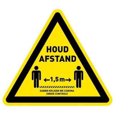 Keep away floor sticker triangle shop