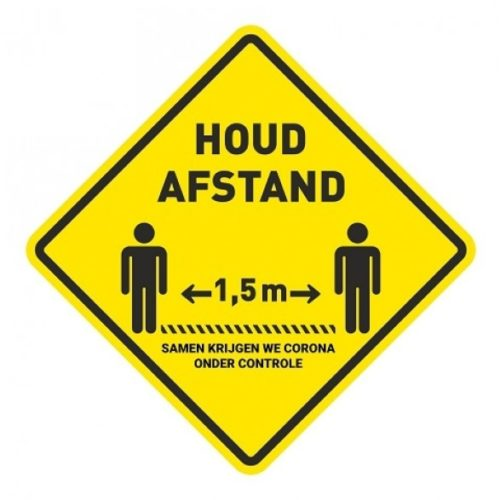 Keep distance floor sticker corona control