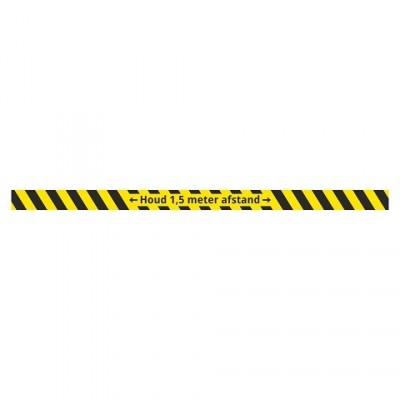Houd 1.5 meter afstand vloerstrip strook