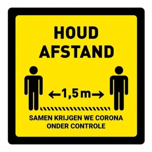 Keep distance floor sticker square corona control covid1§9