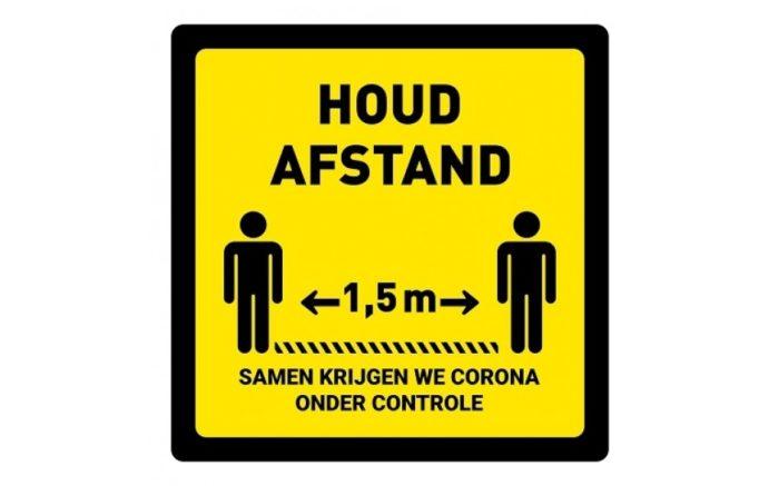 Abstand halten Bodenaufkleber quadratische Koronakontrolle covid1§9