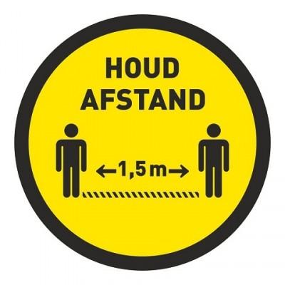 Houd 1.5 meter afstand vloer sticker met antislip