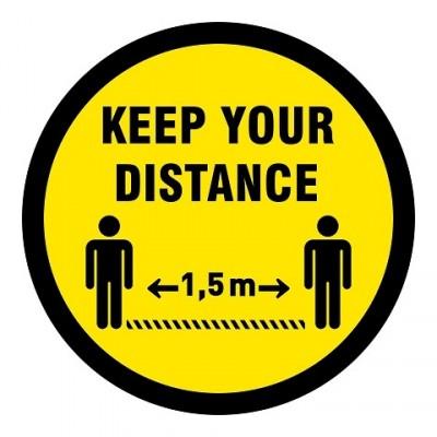 Floor sticker english keep your distance