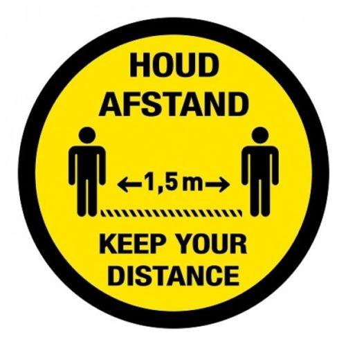 Halten Sie Abstand / halten Sie Abstand Abstand Aufkleber international zwei Sprachen