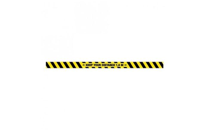 Corona keep your distance vloer sticker