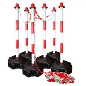 Kettenklinke Set-Füllung Fuß-Barriere-Zäune-Beleuchtungs-Lösungen-Kettenpfosten