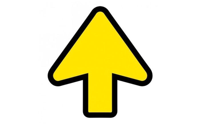 Arrow + floor laminate (anti-slip)