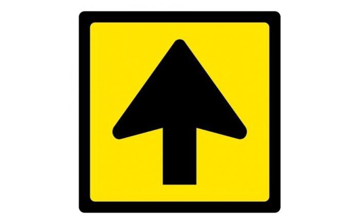 Floor sticker arrow square corona 1.5 meters away