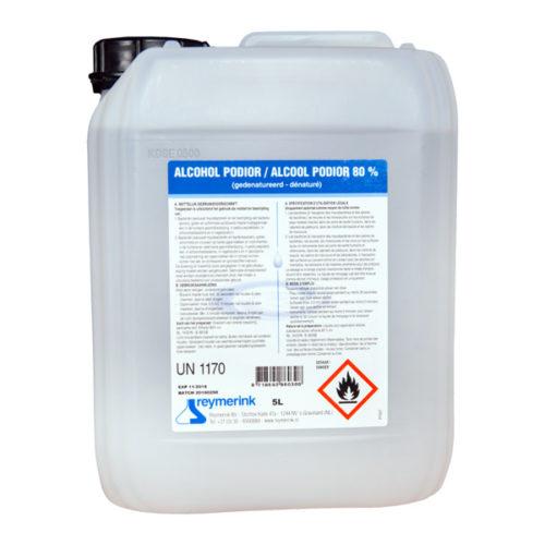 Reymerink-Alkohol-Podior-Desinfektionsmittel-Flüssigkeit-80-Flüssigkeit-Corona-Covid-19-Fluchtweg Zeichen