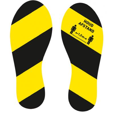 Schritte halten 1,5 m entfernt