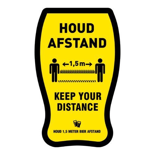Inexpensive keep distance 1.5 meter stickers
