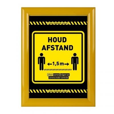 Klicken Sie auf Rahmen Corona Poster schwarz gelb