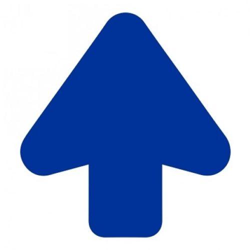 Vloerpijl blauw uitgesneden – antislip routaanduiding, routemarkering