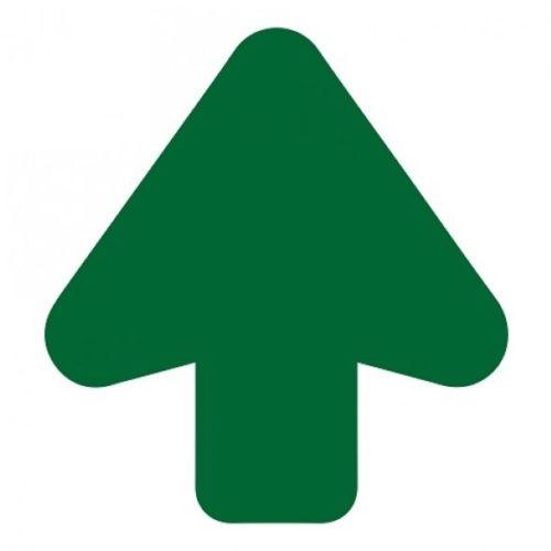 Vloerpijl groen 200 mm uitgesneden – antislip – supergrip. Ideaal aangeven van routes