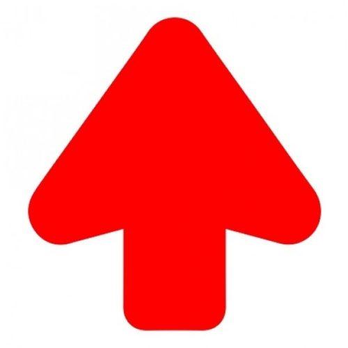 Vloer Pijl rood + vloerlaminaat (antislip) Pijl 200 mm uitgesneden – antislip – supergrip- route markering