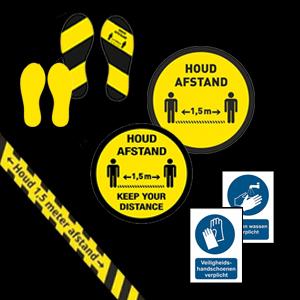 Houd afstand / 1.5 mtr producten