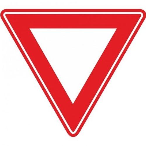 Traffic sign RVV B06 - Right-of-way intersection - give way