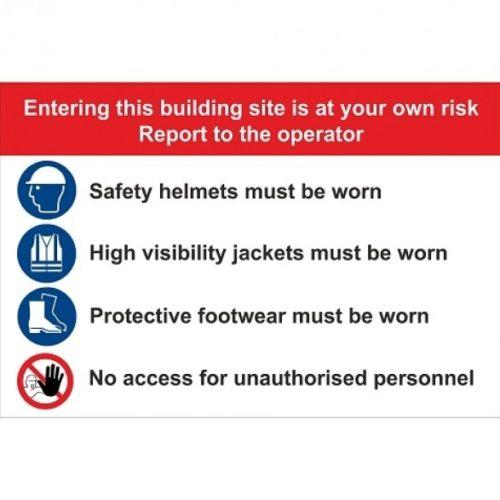 Bouwplaats bord Type F - veiligheid -