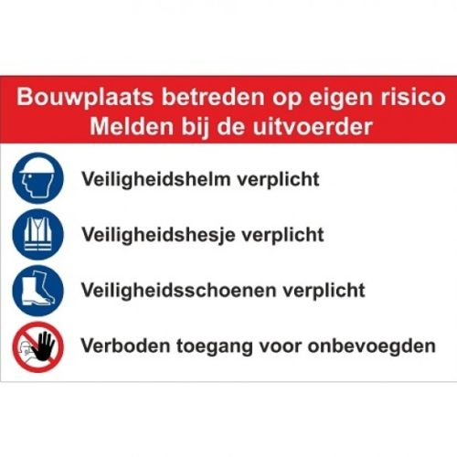 Construction site sign Type F - safety -