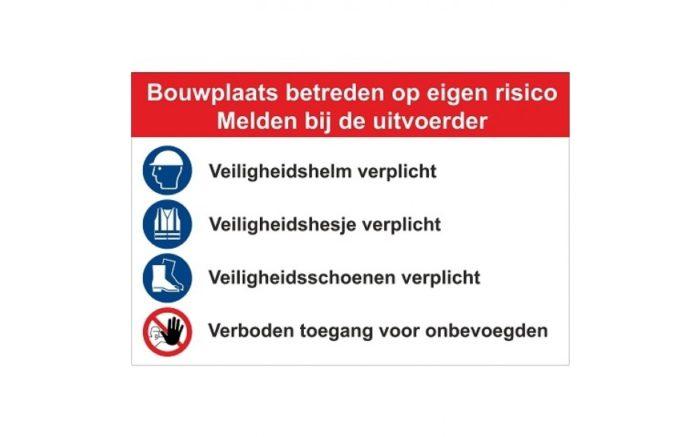 Baustellenschild Typ F - Sicherheit -