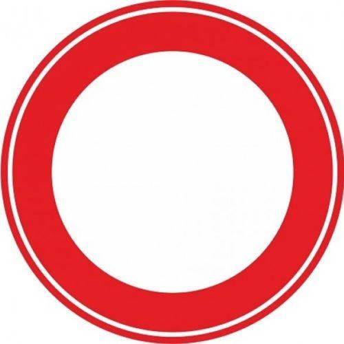 Verkeersbord c01 gesloten voor alle verkeer