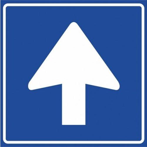 C04 One-way road, follow mandatory direction