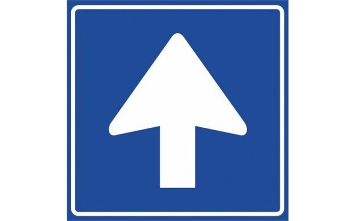 C04 Eenrichtingsweg volg verplichte rijrichting