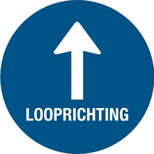 Vloersticker Looprichting + pijl + vloerlaminaat (antislip)
