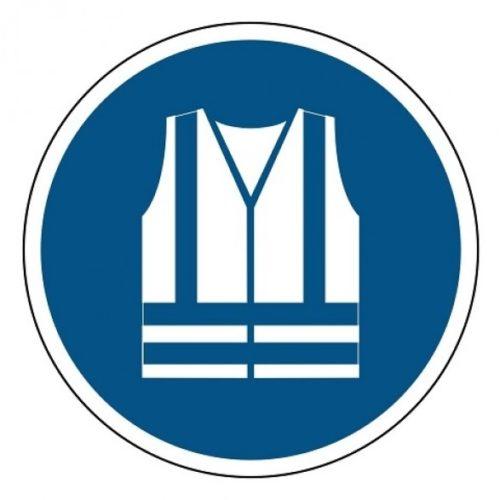 Veiligheidshesje verplicht sticker blauw wit