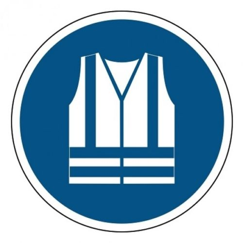 Safety vest mandatory sticker blue and white