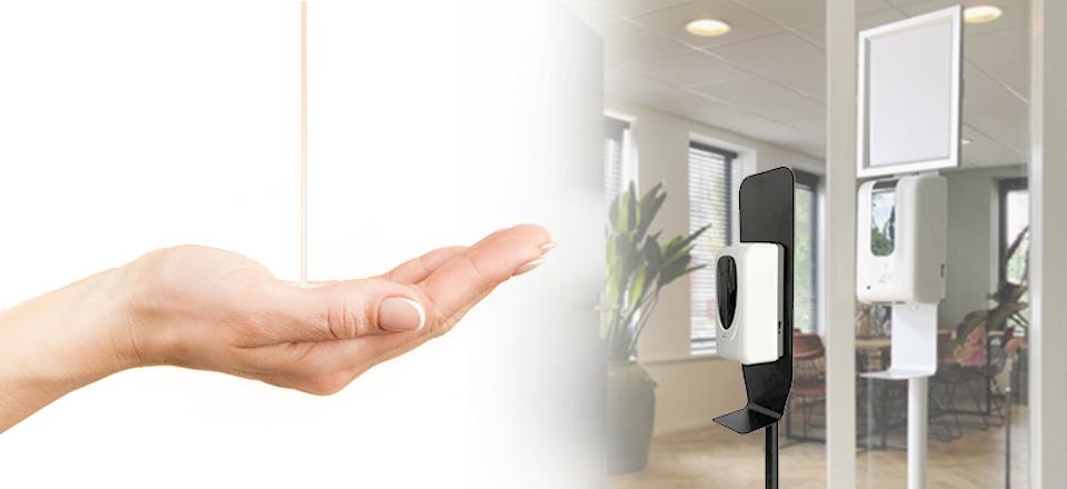 Automatische hygiene desinfectie paal