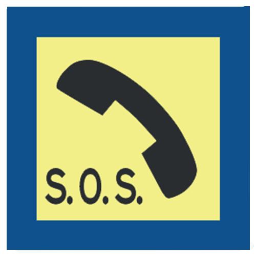 Bord sos telefoon veiligheid verkeersbord