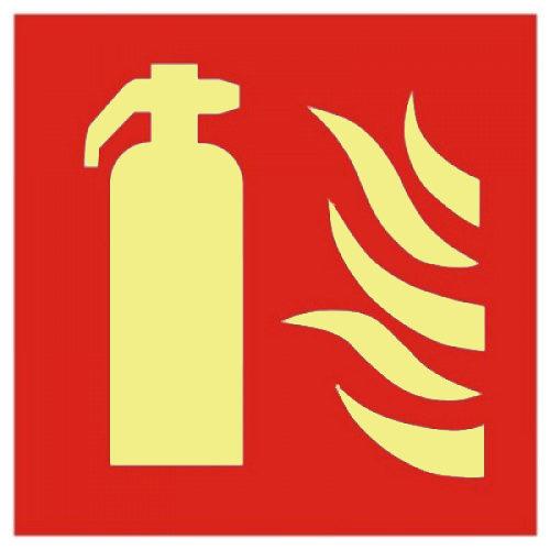 Brandblussers signaleringen voor in tunnels