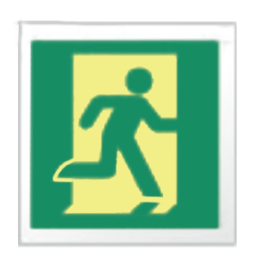 Emergency exit sign for tunnels