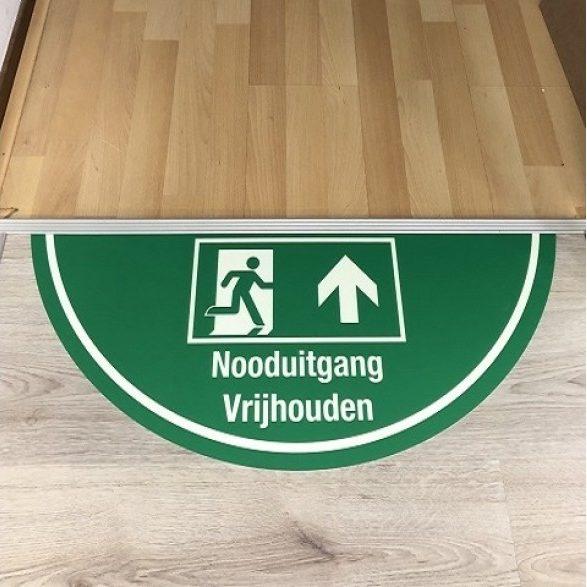 Floor marking-emergency lighting-escape route indication-emergency-door-glow-in-the-dark-afterglowing-materials-escape route indications