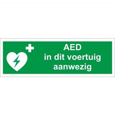AED in dit voertuig aanwezig sticker